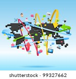 network  global communication...   Shutterstock .eps vector #99327662