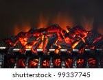 Glowing Coals And Fire Flames...
