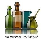 vintage medicine bottles  vector | Shutterstock .eps vector #99339632