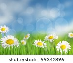 background with meadow and... | Shutterstock . vector #99342896