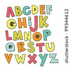 fun alphabet design. vector... | Shutterstock .eps vector #99344612