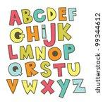 fun alphabet design. vector... | Shutterstock .eps vector #99344612