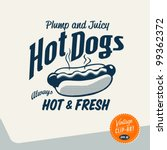 vintage clip art   hot dog  ... | Shutterstock .eps vector #99362372
