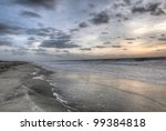 Hdr Of Sunrise At Tybee Island...