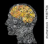 head and brain gears in the... | Shutterstock . vector #99387926