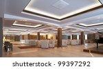 modern lobby for hotel   Shutterstock . vector #99397292