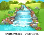 water spring in natural... | Shutterstock .eps vector #99398846