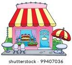 cartoon candy store   vector... | Shutterstock .eps vector #99407036