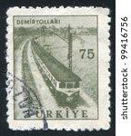 turkey   circa 1959  stamp... | Shutterstock . vector #99416756