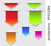 3d pull here arrows   three...   Shutterstock .eps vector #99423386