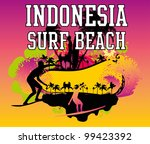 indonesia surf beach | Shutterstock .eps vector #99423392