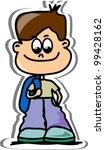 cartoon cute schoolboy | Shutterstock .eps vector #99428162