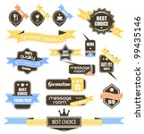 premium quality labels  ... | Shutterstock . vector #99435146