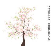 spring apple tree | Shutterstock .eps vector #99445112