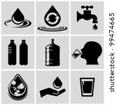 water related icons set. | Shutterstock .eps vector #99474665