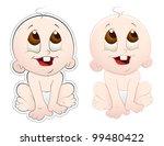 cute baby vector | Shutterstock .eps vector #99480422