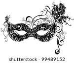 vector carnival mask for a... | Shutterstock .eps vector #99489152