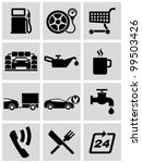 gas station service icons set. | Shutterstock .eps vector #99503426