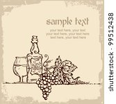 card design with vintage wine... | Shutterstock .eps vector #99512438