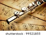 Silver Flute On An Ancient...