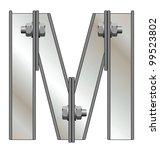 metallic alphabet letter m... | Shutterstock . vector #99523802