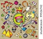 money   luck elements | Shutterstock .eps vector #99526742