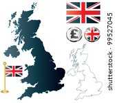 vector of united kingdom map ... | Shutterstock .eps vector #99527045