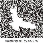 predator bird and its prey | Shutterstock .eps vector #99527375