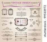 vector set classic ... | Shutterstock .eps vector #99533972
