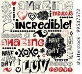hand drawn design elements ... | Shutterstock .eps vector #99537572
