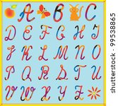 english alphabet for children... | Shutterstock . vector #99538865