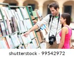 tourist couple in havana  cuba... | Shutterstock . vector #99542972