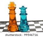 Colorful Chess Made Of Glass