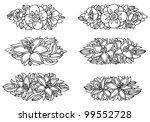 set of six vector flower... | Shutterstock .eps vector #99552728