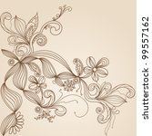 floral pattern hand drawing... | Shutterstock .eps vector #99557162