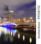 Boston, Massachusetts Financial District from Boston Harbor - stock photo