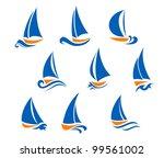 Yachting And Regatta Symbols...