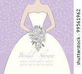 wedding dress doodle for...   Shutterstock .eps vector #99561962