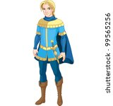 illustration of brave prince   Shutterstock .eps vector #99565256