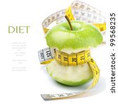 Green Apple Core And Measuring...