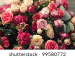Stock photo multicolor roses bouquet 99580772