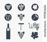 wine theme icons. vector | Shutterstock .eps vector #99581606