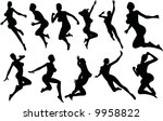sexy  silouettes | Shutterstock .eps vector #9958822
