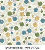 floral seamless pattern  vector ...   Shutterstock .eps vector #99599738