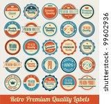 retro premium quality labels | Shutterstock .eps vector #99602936