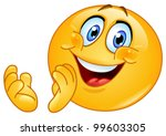 emoticon clapping | Shutterstock .eps vector #99603305