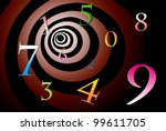 a lot of numbers on a beautiful ... | Shutterstock . vector #99611705