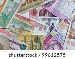 picture of several bills from... | Shutterstock . vector #99612575