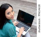 portrait young pretty asian... | Shutterstock . vector #99614618