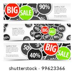 set of vector big sale... | Shutterstock .eps vector #99623366